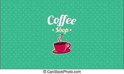 Coffee shop design, Video Animation HD1080