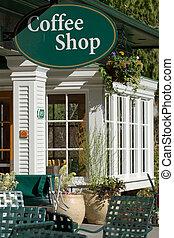 Coffee Shop entrance at botanical garden