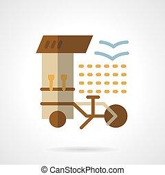 Coffee shop flat color vector icon
