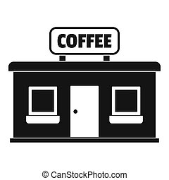 Coffee shop icon, simple style.