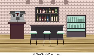 coffee shop interior - coffee shop counter maker machine...