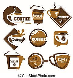 Coffee shop isolated icon drink cup takeaway