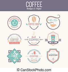 Coffee Shop Logo Collection - Vector set of coffee shop...