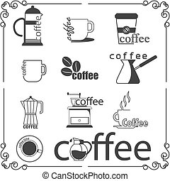 Coffee shop logo in vector