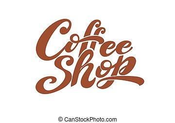 Coffee shop logo. Vector illustration
