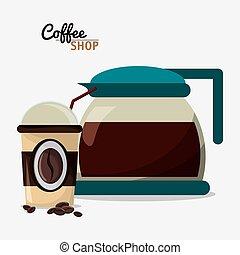 coffee shop pot glass cup portable