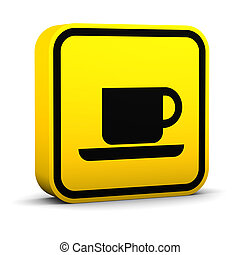 Coffee Shop Sign - Coffee shop sign on a white background....