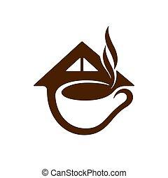 Coffee shop symbol, vector illustration