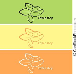 Coffee shop vector illustration.