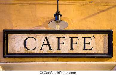 Coffee sign in retro style - Italy