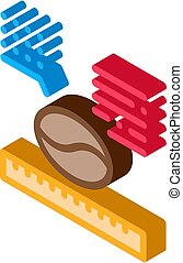 coffee size isometric icon vector illustration