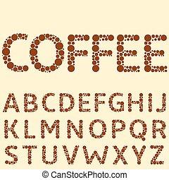 Coffee special alphabet