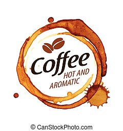 Coffee splatter. Vector illustration on white background