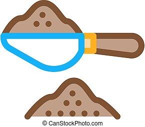 coffee spoon icon vector outline illustration