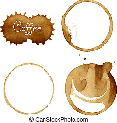 Coffee Stain Collection, Vector Illustration