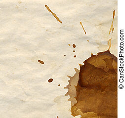 Coffee Stain, With Gradient Mesh, Vector Illustration