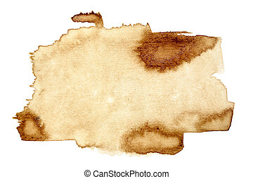 Coffee stain isolated on white background (Used real coffee)...