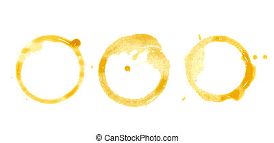 Coffee Stain on paper background