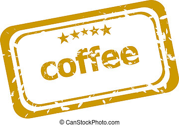 coffee stamp isolated on white background