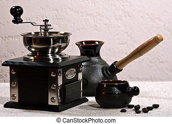 Coffee still -life on the table