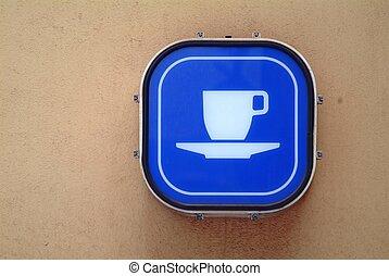 coffee - blue coffee board
