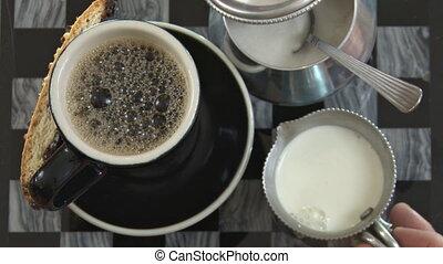 coffee:, sucre, ajouter, crème