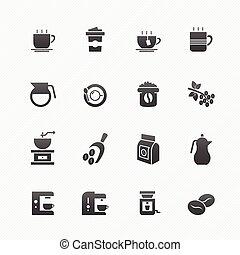Coffee symbol icon set