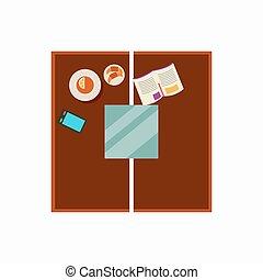 Coffee Table Design Icon Vector Illustration
