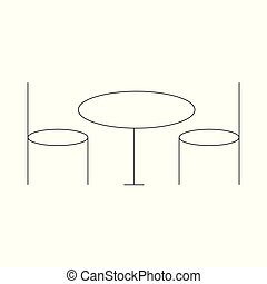 Coffee Table Furniture Icon Vector Illustration