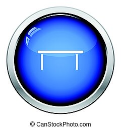 Coffee table icon. Glossy button design. Vector...