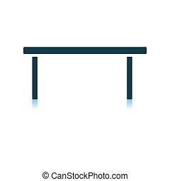 Coffee Table Icon. Shadow Reflection Design. Vector...