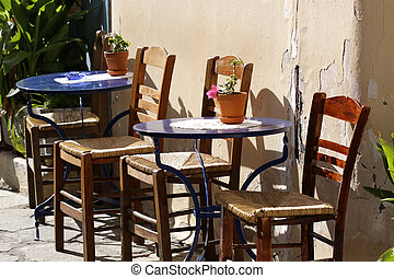 Coffee table in Plaka, Athens - Coffee table in Plaka,...