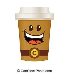 Coffee Tall Cup Cartoon Character-01.eps