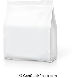 Coffee tea pillow package bag isolated