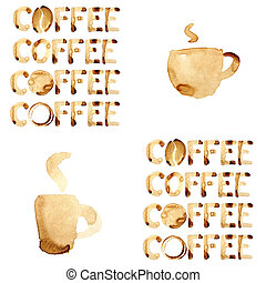 Coffee theme seamless pattern