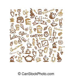 Coffee time, background for your design