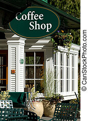 Coffee time - Coffee shop in tourist town in British...