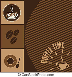 Coffee time design background