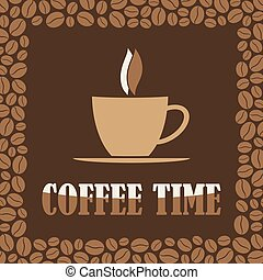 Coffee Time or Break Design Card