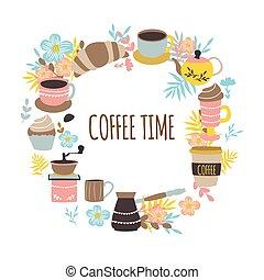 Coffee Time Round Design