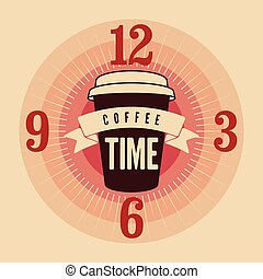 Coffee Time typographic poster.