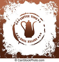 coffee time vector template