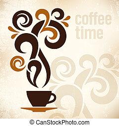 Coffee Time Vintage Illustration