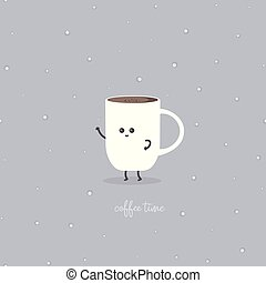 coffee time with cup