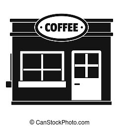 Coffee trade icon, simple style.