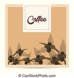 coffee tree beans nature poster