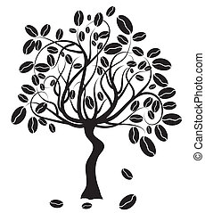 Coffee tree, vector