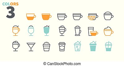 Coffee UI Pixel Perfect Well-crafted Vector Thin Line Icons...