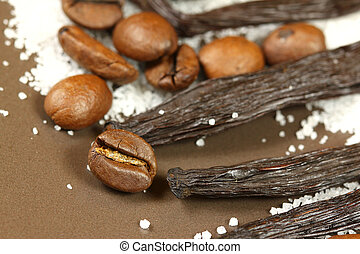 Coffee, vanilla and sugar