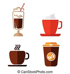 Coffee vector icons